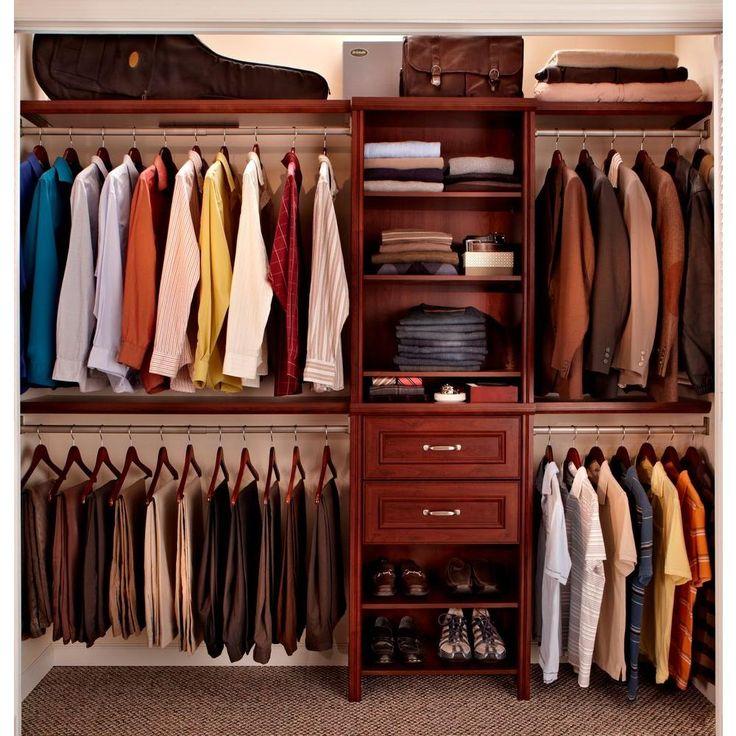 Wooden Wardrobe Closets Home Depot ~ Closetmaid impressions in dark cherry closet kit