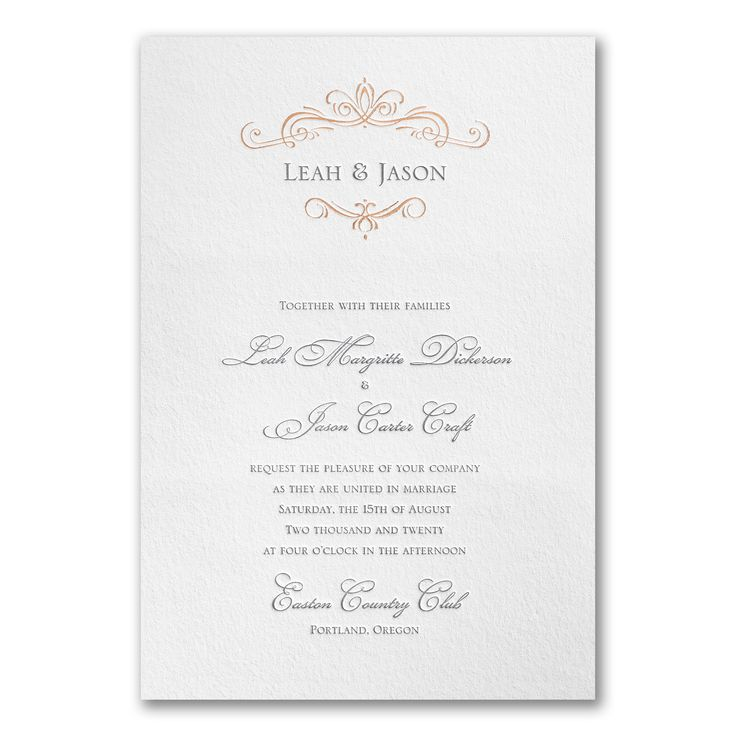37 best White Wedding Invitations images on Pinterest | White ...
