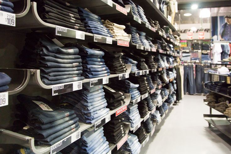 The great wall of denim! Come and check it out at Just Jeans DFO, Jindalee  https://www.facebook.com/DFOJindaleeQLD
