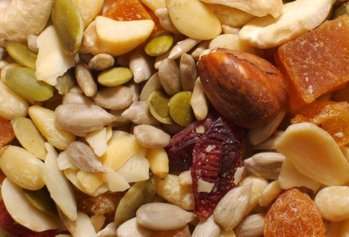 Nuts and Seeds  Nuts and seeds can bolster bone health in several ways. Walnuts and flaxseeds are packed with omega-3 fatty acids. Peanuts and almonds contain potassium, which protects against the loss of calcium in urine. Nuts also contain protein and other nutrients that play a supportive role in building strong bones.