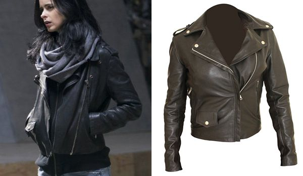 The complete costume guide to Jessica Jones portrayed by Krysten Ritter in Jessica Jones TV show and The Defenders. Leather jacket, shoes, sunglasses, etc.
