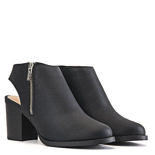 Black Low Heel Dressy Boots   Women's Sheen Low-Heel Dress Shoe Black   Shiekh Shoes