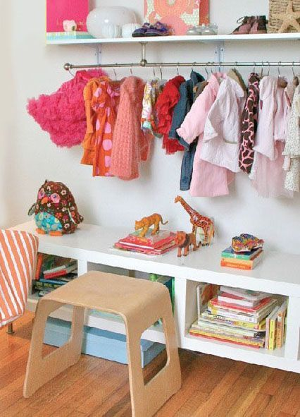 Genius storage solutions for kids' rooms without closets.