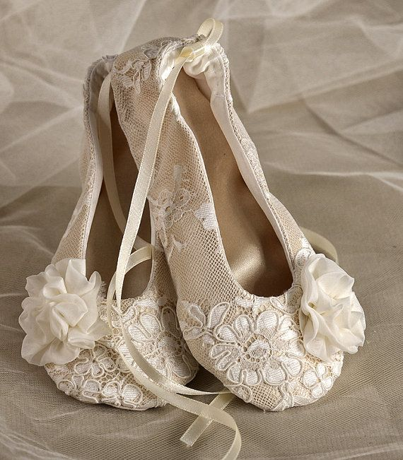 Satin Flower Girl Shoes - Baby Toddle, Ballet Flats for Flower Girls Champagne Lace  Ballerina Slippers on Etsy, $40.00