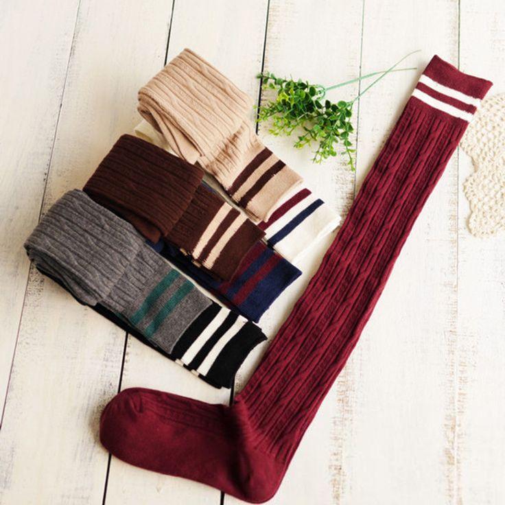 1 par Hot coton + laine femmes de plus de genou de Lady cuisse haute longues chaussettes calcetines largos para mujeres meias de compressao dans Bas de Femmes de Vêtements et Accessoires sur AliExpress.com | Alibaba Group