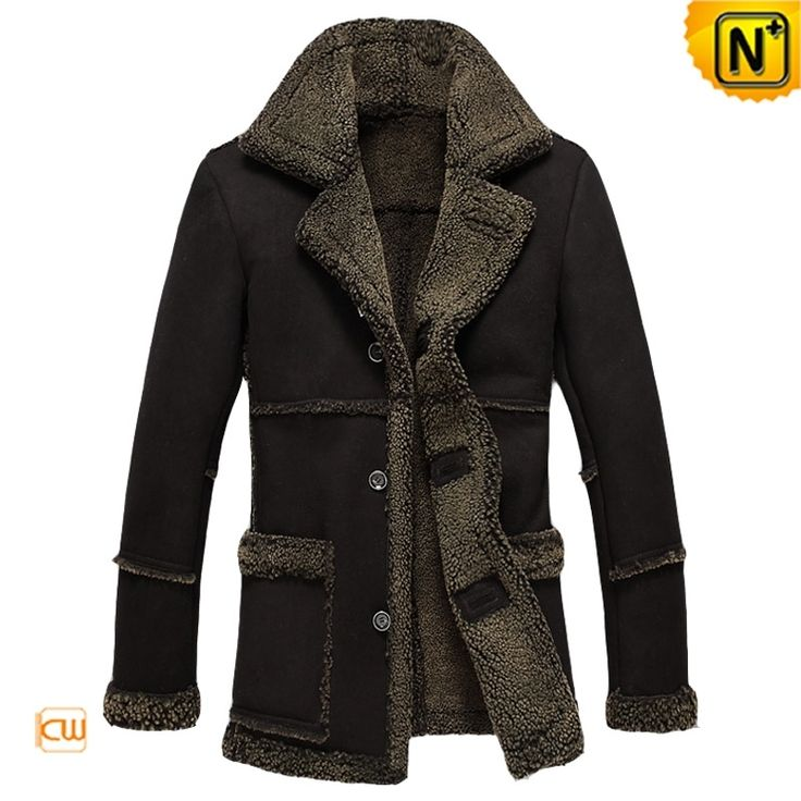 Measure to Made: Mens Black Sheepskin Coat Jacket CW878257 - www.cwmalls.com