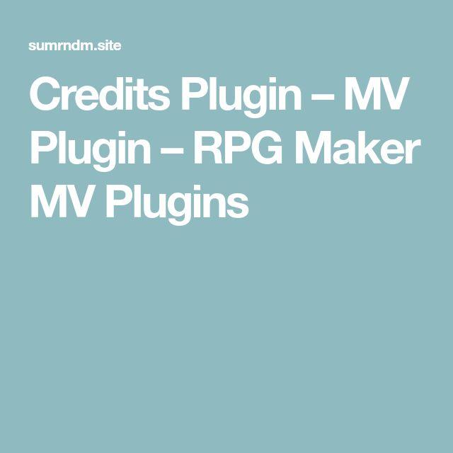 Credits Plugin – MV Plugin – RPG Maker MV Plugins