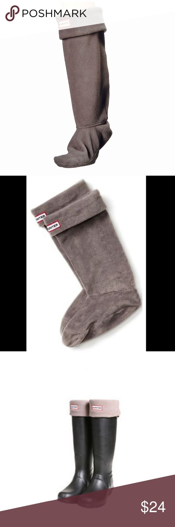 💥Hunter Boot Welly Sock Fleece Liner XL 10-13 Made from warm micro fleece, they will keep your feet cozy and also provide a snug fit in your boots. Not only a practical solution but a great boot accessory or gift for those with Hunter boots. Fleece sock Hunter logo detailing X-Large fits 10B-13B women's. Perfect condition – worn and washed once. Hunter Boots Accessories Hosiery & Socks