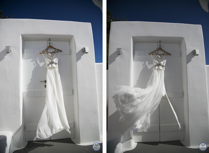 Bridal Gown | Santorini Wedding by Stella and Moscha - Exclusive Greek Island Weddings | Photo by Nikos P. Gogas