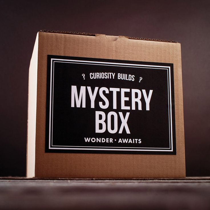 Silent auction for mystery boxes.