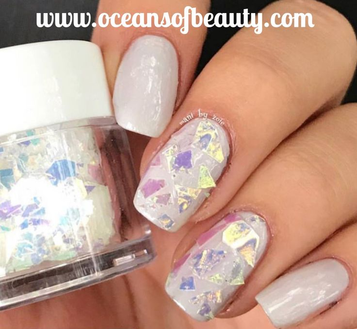 Mylar Flakes by Sparkle & Co. Visit OceansofBeauty.com Salon Quality done right in your own home! For updates, customer pics, contests and much more please like us on Facebook https://www.facebook.com/EZ-DIP-NAILS-1523939111191370/ #mylar #mylarflakes #ezdip #ezdipnails #sparkleandco #diynails #naildesign #dippowder #gelnails #nailpolish #mani #manicure #dippowdernails