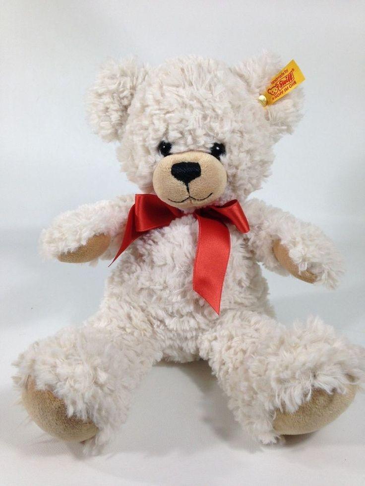 "Steiff Lilly Schlenker-Teddybar Teddy Bear Cream Plush 11"" Stuffed Animal Toy #Steiff #AllOccasion"