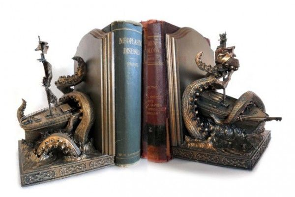 Re-Create a Shipwreck On Your Shelf With Kraken Bookends, I will never have enough bookends