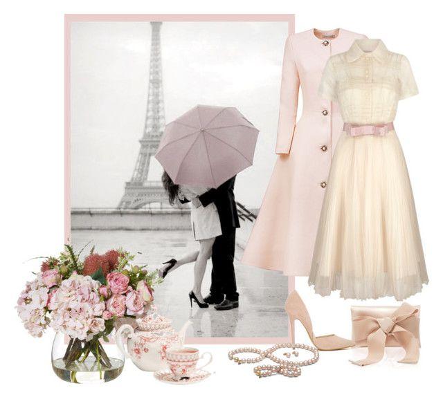 """Meet me in Paris"" by elli-argyropoulou ❤ liked on Polyvore featuring Esme Vie, Oscar de la Renta, Steve Madden and vintage"