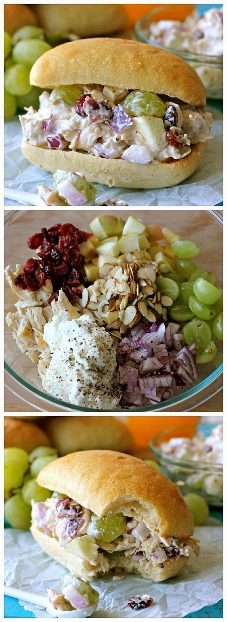 Greek Yogurt Chicken Salad Sandwich | Recipes | Pinterest