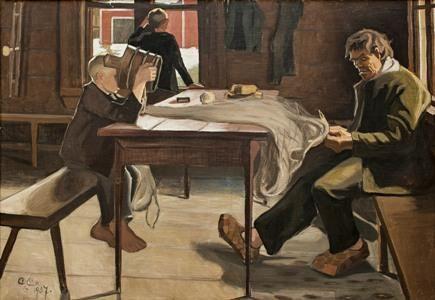 Alvar Cawén, Verkonpaikkaajat. Kuva: Pekka Helin, Keski-Suomen museo