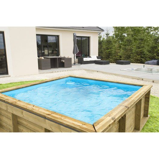 55 best piscine images on Pinterest Mini pool, Swimming pools and - piscine hors sol beton aspect bois