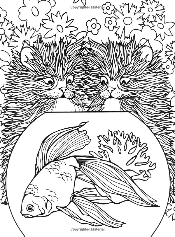 Wonderful Fashion Coloring Book Huge For Colored Girls Book Rectangular Creative Coloring Books Dia De Los Muertos Coloring Book Young Hello Kitty Coloring Books FreshMosaic Coloring Books Designs For Coloring: Cats: Ruth Heller: 9780448031484: Amazon.com ..