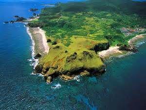 綠島空中俯視圖