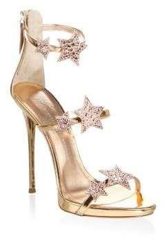 3d3ea25eacccb9 Giuseppe Zanotti Coline Crystal Embellished Leather Sandals  heels  afflink
