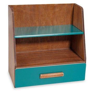 Portaoggetti per scrivania blu VINTAGE 30x30x17 by Maisons du Monde