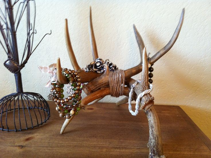 My new jewelry holder.  Have to do something with all these antlers my husband brings home!