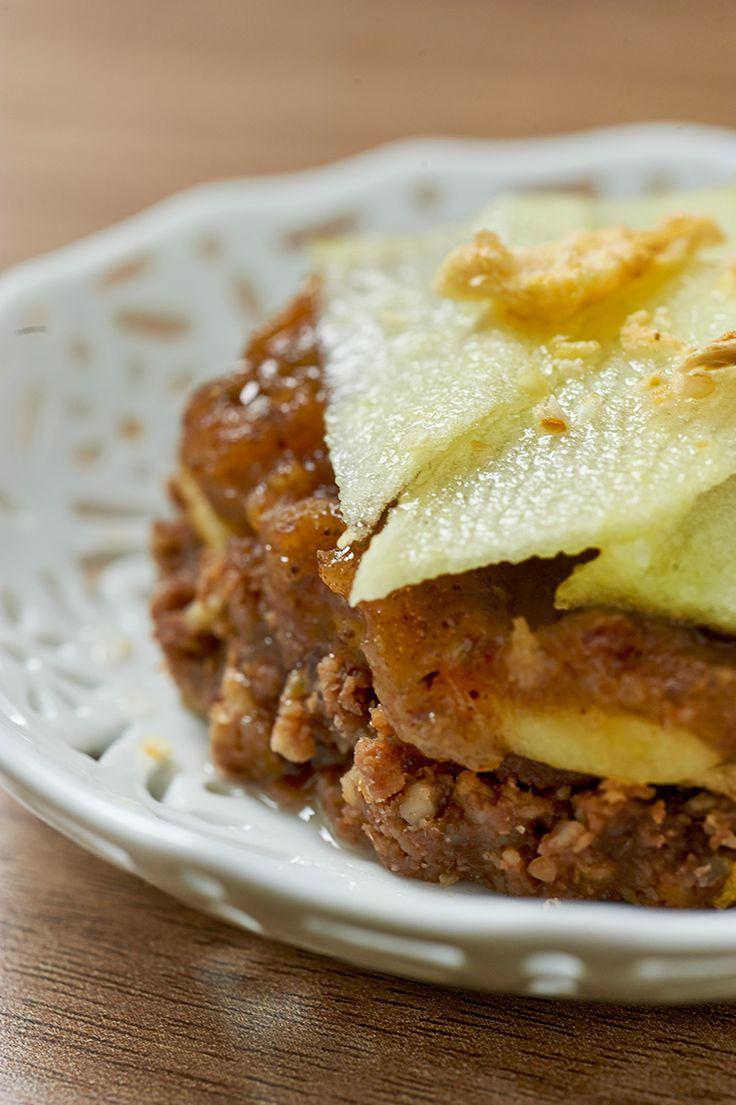 crostata di mele crudista