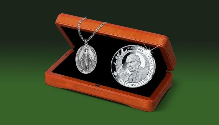 Cudowny medalik Matki Bożej Niepokalanej i wyjątkowy srebrny medal