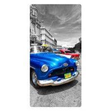 Kék retró autó falikép