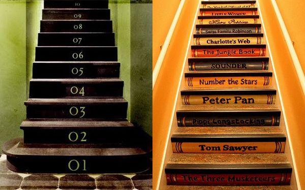 Decorating Stairs   Stair Riser Decor Ideas   Modern Interiors