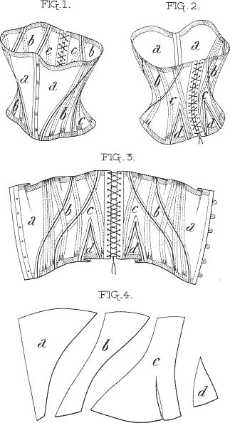 Corse patrón de 4 piezas