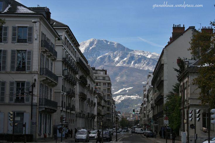 Lendemain de tempête de neige à Grenoble …