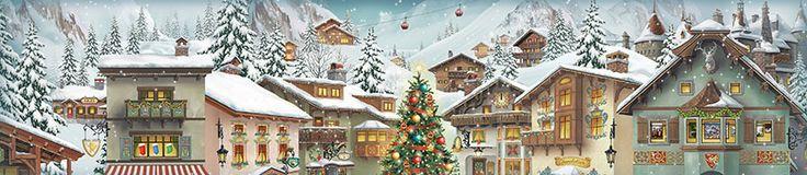 2017 Alpine Advent Calendar -- daytime scene -- Jacquie Lawson website -- saved 11-29-17