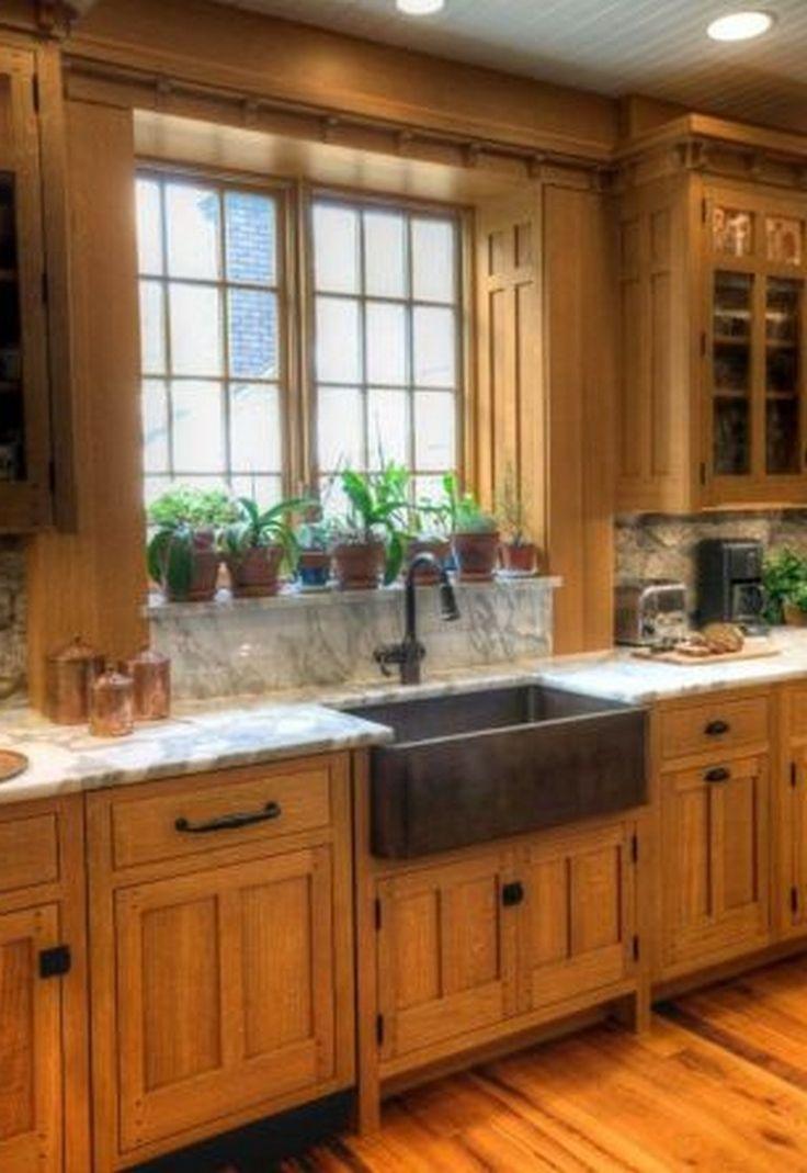 35+ Beautiful Kitchen Paint Colors Ideas with Oak
