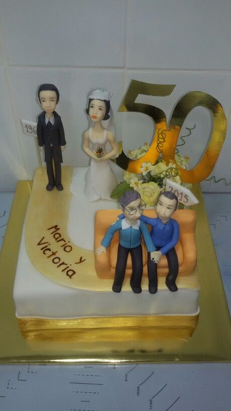 Torta aniversario 50 años de matrimonio...