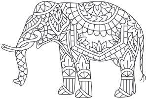 Elegant Elephant design (UTH7910) from UrbanThreads.com