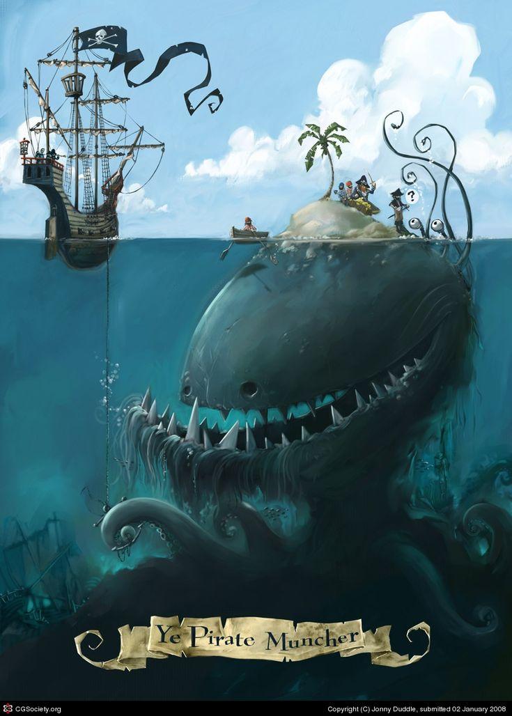 Е. Pirate измельчитель Джонни Duddle   2D   CGSociety