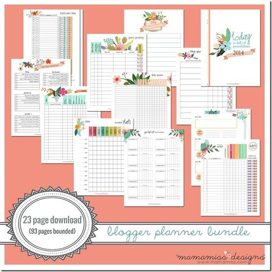 2014 Blogger Planner Bundle