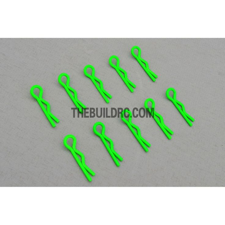 Body Clip for 1/12 - 1/18 RC Buggy Truggy Car (10pcs) - Fluorescent Green