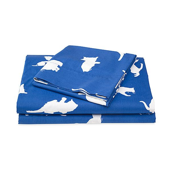 Plow & Hearth Blue Catnap Sheets Set ($53) ❤ liked on Polyvore featuring home, bed & bath, bedding, bed sheets, cotton flat sheets, blue flat sheet, blue sheet sets, twin sheet sets and blue bed linen