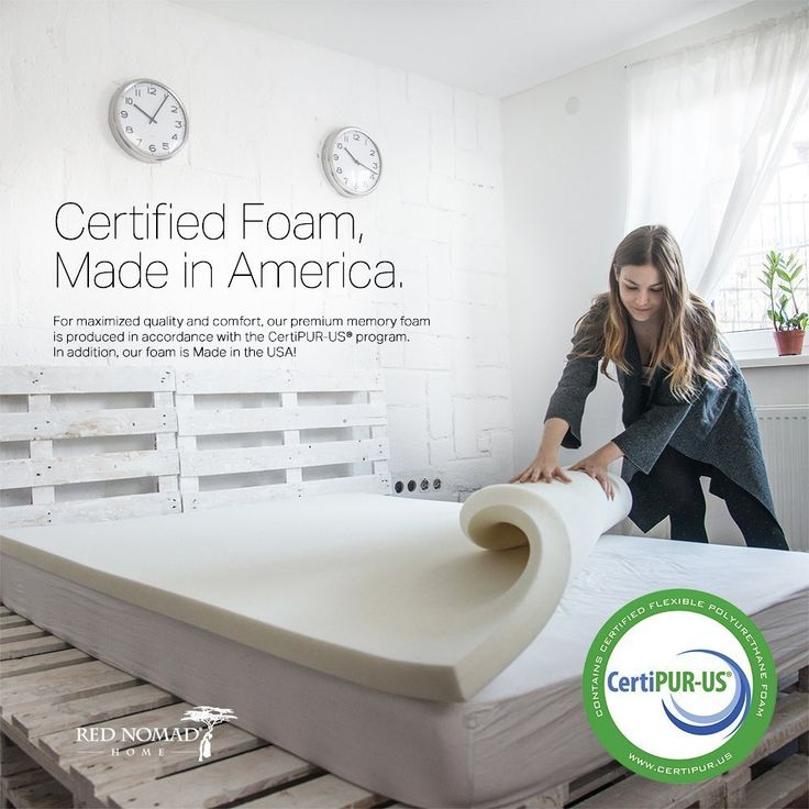 Red Nomad - California King Size 4 Inch Thick, Ultra Premium Visco Elastic Memory Foam Mattress Pad Bed Topper - Made in the USA