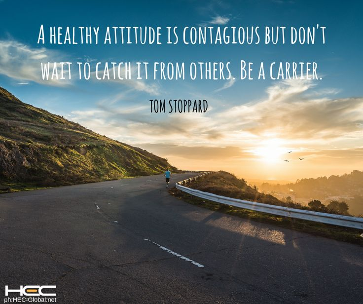 """A healthy attitude is contagious but don't wait to catch it from others. Be a carrier."" – Tom Stoppard  Tag someone who needs to get motivated. ☺ #RUSHtoSUCCESS  #MondayMotivation"