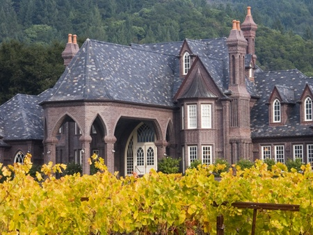 This is our very favorite winery, Ledson Vineyards in Sonoma, CA. It's a beautiful gothic castle surrounded by rolling hills and grapevines. It is divine!