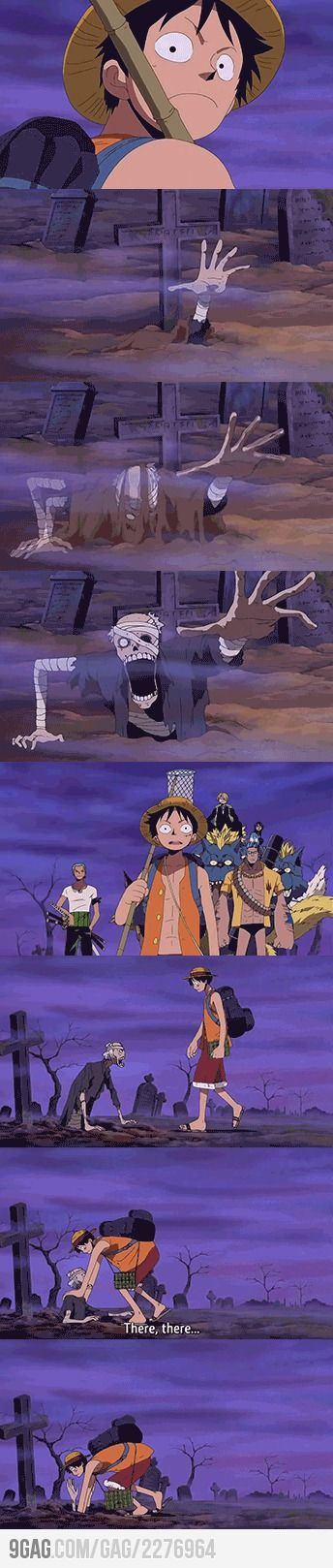 Zombies' apocalypse? No problem, there's Rufy XD #OnePiece