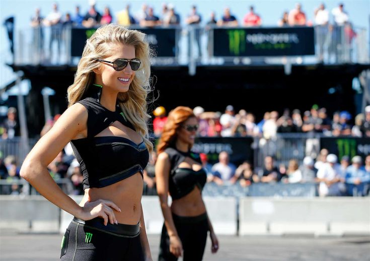 Monster Energy at the track: Daytona 500 weekend  Sunday, February 26, 2017  The Monster Energy Girls lined the red carpet for the driver meeting on Sunday.  Photo Credit: Getty Images