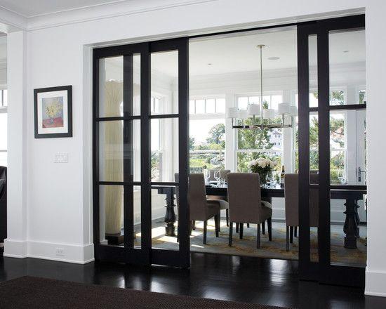 Door: Decor, Dining Rooms, Ideas, Glass Doors, French Doors, Interiors, Glasses Doors, Pockets Doors, Sliding Doors