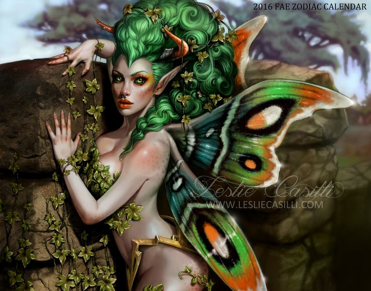I would like to introduce to you Taurus Fae! Taurus are sensual. dependable, grounded, and provoke slowly. Their color is green, and they are an Earth sign represented by the bull. She will be appearing in my 2016 Fae Zodiac Calendar!