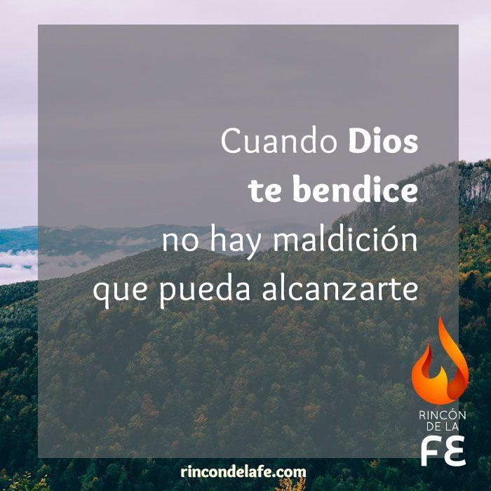 Cuando Dios te bendice no hay maldición que pueda alcanzarte #Dios #God #amor #oración #sentimientos #cristo #fe