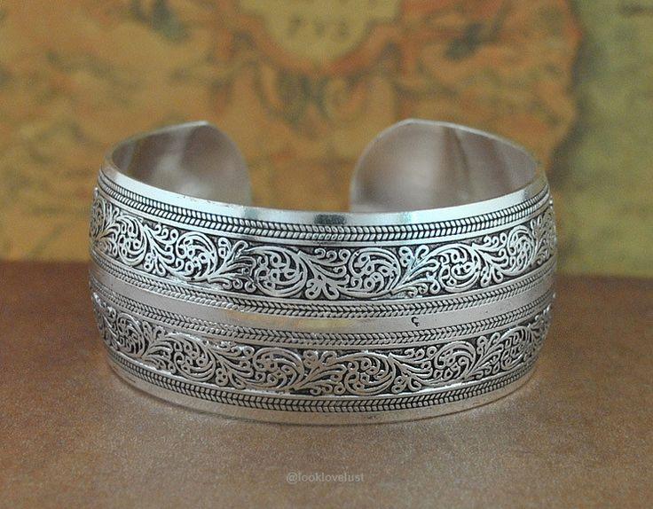 Tibetan Silver Bangles-Bracelets-Look Love Lust, https://www.looklovelust.com/products/tibetan-silver-bangles