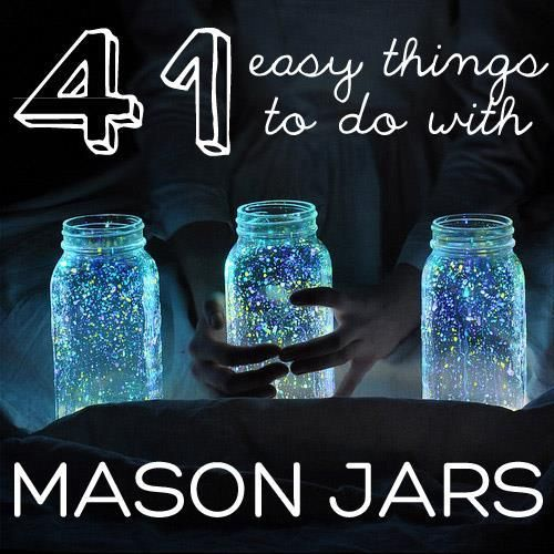 Here inspiring ideas how to make something new from mason jars !  There are adorable ways to use jars for decoration, organization or for making gifts.   1